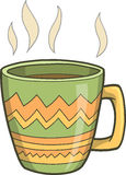Illustrazione calda di vettore del caffè Fotografie Stock
