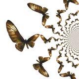 Illustrazione caleidoscopica delle farfalle Immagini Stock