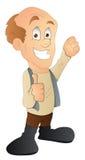 Uomo calvo - personaggio dei cartoni animati - illustrazione di vettore Fotografie Stock