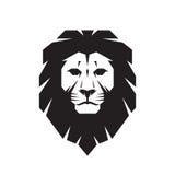 Illustrazione capo- di concetto del segno di vettore del leone Lion Head Logo Illustrazione selvaggia del grafico della testa del Fotografia Stock