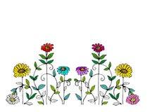 Illustrazione capricciosa del fiore Illustrazione di Stock