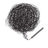 Illustrazione casuale dello scarabocchio della matita Immagini Stock