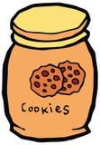 Illustrazione ceramica di vettore del barattolo di biscotto Fotografia Stock