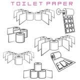 Illustrazione che consiste di parecchie immagini dei rotoli della carta igienica Fotografie Stock Libere da Diritti