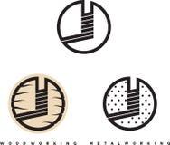 Illustrazione che consiste di parecchie immagini delle frese per legno e metallo illustrazione vettoriale