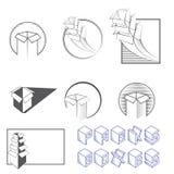 Illustrazione che consiste di parecchie immagini delle scatole Fotografie Stock