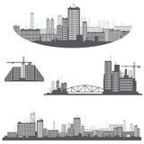 Illustrazione che consiste di quattro immagini illustrazione vettoriale