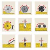 illustrazione che descrive un insieme di nove immagini sotto forma di manifesti illustrazione vettoriale
