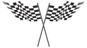 Illustrazione Checkered in bianco e nero delle bandierine Fotografia Stock Libera da Diritti