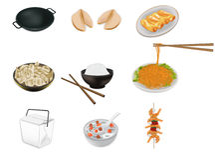 Illustrazione cinese di vettore dell'alimento Fotografia Stock
