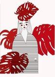Illustrazione circa colore rosso Immagine Stock