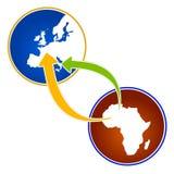 Illustrazione circa emigrazione dall'Africa illustrazione di stock