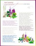Illustrazione circa il mercato immobiliare Immagini Stock