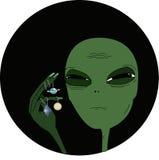 Illustrazione circa il UFO Fotografia Stock