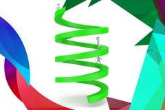 illustrazione circolare della freccia dell'uomo 3d Immagini Stock Libere da Diritti