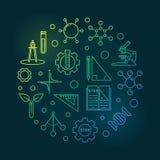 Illustrazione circolare di scienza, di tecnologia, di ingegneria e di per la matematica royalty illustrazione gratis