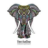 Illustrazione colorata dell'elefante royalty illustrazione gratis