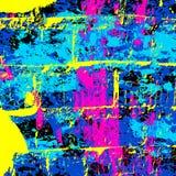 Illustrazione colorata psichedelica di vettore del modello dei graffiti Immagine Stock
