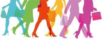 Illustrazione Colourful dei clienti illustrazione vettoriale