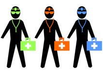 Illustrazione Colourful dei medici royalty illustrazione gratis