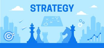 Illustrazione Colourful di strategia come una commercializzazione dello strumento royalty illustrazione gratis