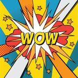 Illustrazione comica di Pop art wow Fotografie Stock