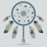 Illustrazione con dreamcatcher Fotografia Stock