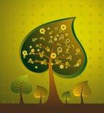 Illustrazione con gli alberi, vettore Fotografia Stock