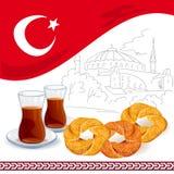 Illustrazione con gli elementi turchi Immagine Stock Libera da Diritti