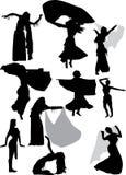 Illustrazione con i danzatori illustrazione vettoriale