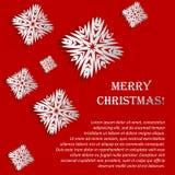 Illustrazione con i fiocchi di neve - Natale di vettore royalty illustrazione gratis