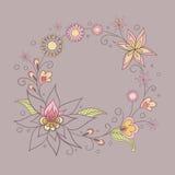 Illustrazione con i fiori Fotografie Stock