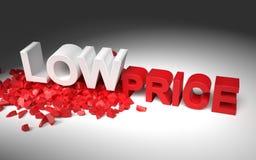 Illustrazione con il prezzo basso del testo Fotografia Stock