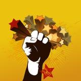 Illustrazione con il pugno Immagine Stock Libera da Diritti