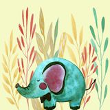 Illustrazione con l'elefante royalty illustrazione gratis