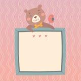 Illustrazione con l'orso sveglio Fotografia Stock