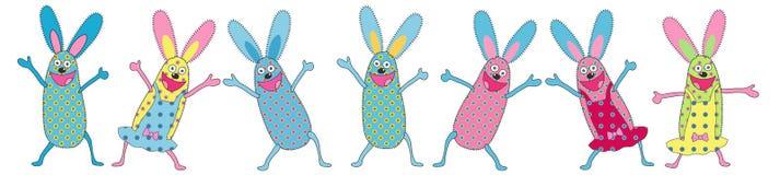 Conigli divertenti Fotografie Stock