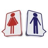 Illustrazione con le icone del wc immagini stock