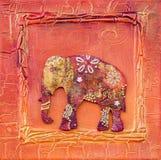 Illustrazione con stile dell'indiano dell'elefante Fotografia Stock Libera da Diritti