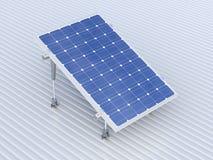 Illustrazione concettuale del pannello solare Fotografia Stock Libera da Diritti