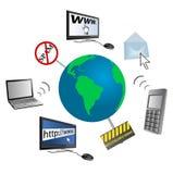 Illustrazione concettuale della comunicazione globale illustrazione di stock