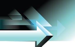 Illustrazione concettuale della pagina di progettazione del fondo della freccia illustrazione vettoriale