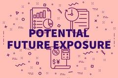 Illustrazione concettuale di affari con il futuro di potenziale di parole royalty illustrazione gratis