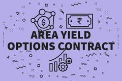Illustrazione concettuale di affari con il optio del rendimento di area di parole royalty illustrazione gratis