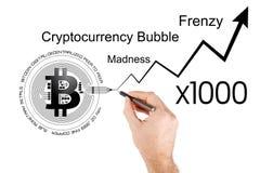 Illustrazione concettuale di aumento dei prezzi di Bitcoin Immagini Stock Libere da Diritti