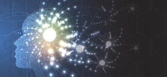 Illustrazione concettuale di tecnologia di intelligenza artificiale illustrazione di stock