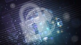 Illustrazione concettuale di tecnologia di intelligenza artificiale stock footage