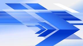 Illustrazione concettuale di vettore della pagina di progettazione del fondo della freccia Immagini Stock Libere da Diritti