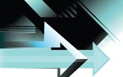 Illustrazione concettuale di vettore della pagina di progettazione del fondo della freccia Fotografia Stock