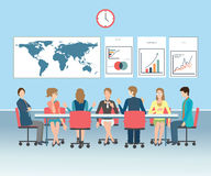 Illustrazione concettuale di vettore di riunione d'affari Immagine Stock Libera da Diritti